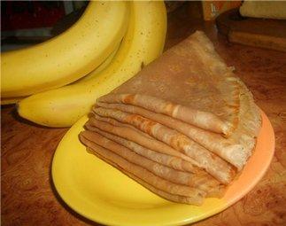 блины с бананами