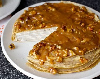 Торт из блинов со сгущенкой