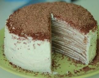 Торт из блинов с творогом